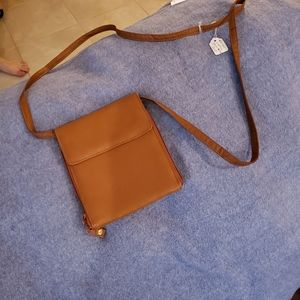 Genuine Leather Crossbody, NWT